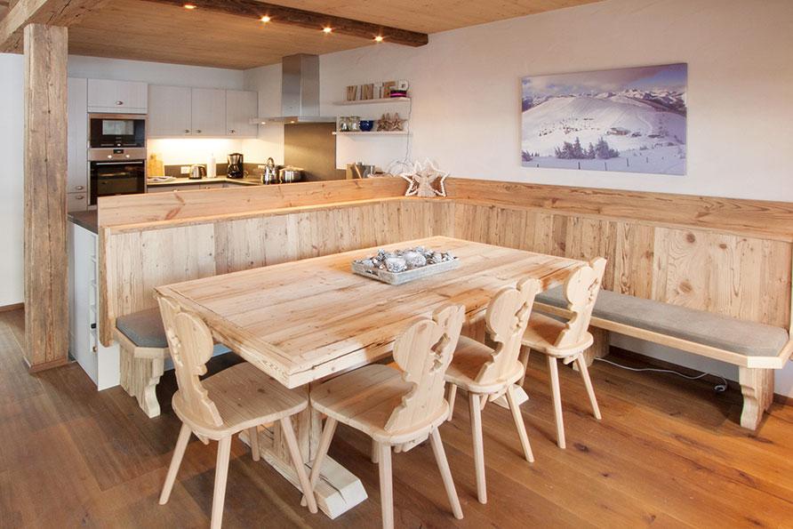 Keuken Eethoek Bank : chalet Hinterglemm 2 eethoek keuken Salzburgerland wintersport